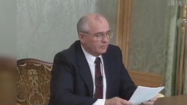 Mijaíl Gorbachov renuncia como presidente de la URSS - Sputnik Mundo