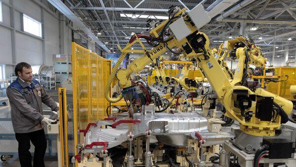 La fabrica Hyundai Motor Manufaturing Rus - Sputnik Mundo