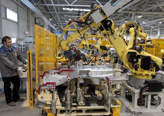 La fabrica Hyundai Motor Manufaturing Rus
