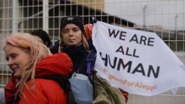 La Marcha Civil por Alepo, 26 de diciembre de 2016, Berlín - Sputnik Mundo