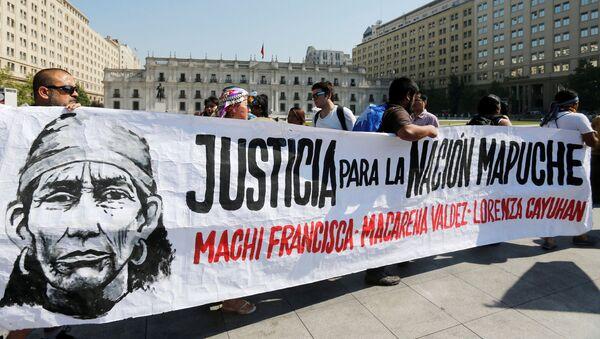 Protesta en Santiago exigiendo la liberación de Francisca Linconao - Sputnik Mundo