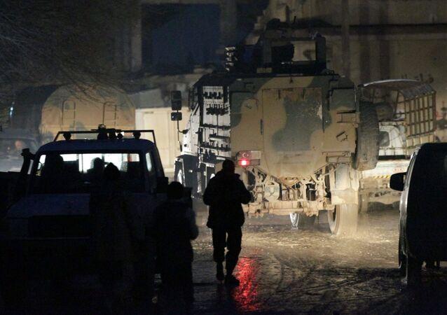 Tropas turcas en Alepo, Siria (archivo)