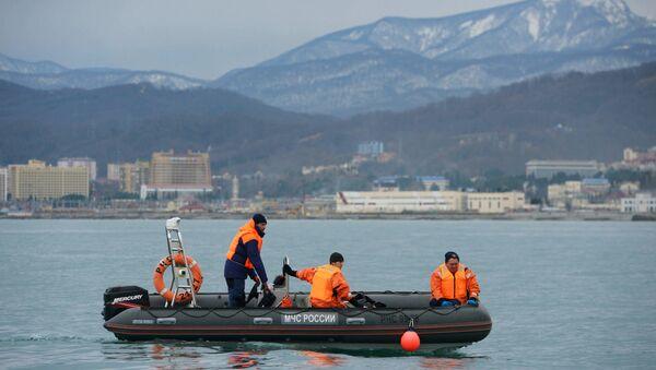Operación de búsqueda y rescate en el lugar de la catástrofe del Tu-154 (archivo) - Sputnik Mundo