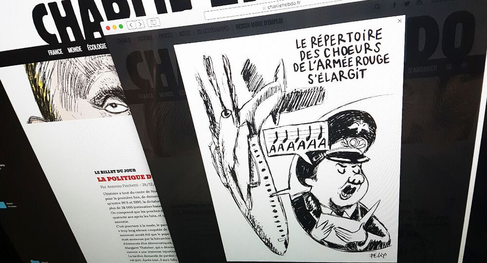 Charlie Hebdo publica caricatura del siniestro del avión ruso Tu-154