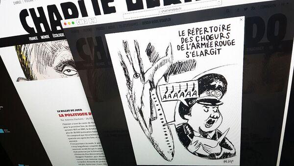 Charlie Hebdo publica caricatura del siniestro del avión ruso Tu-154 - Sputnik Mundo