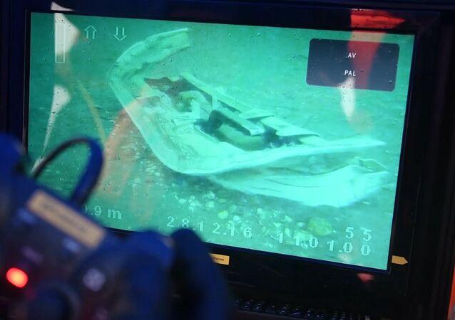 La operación de búsqueda de los fragmentos del Tu-154 ruso siniestrado en el mar Negro (archivo)