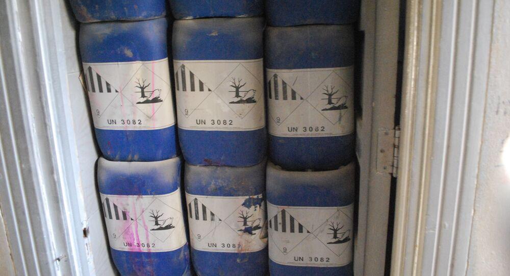 Fábrica de armas químicas de los radicales en Siria (imagen referencial)