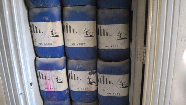 Fábrica de armas químicas de los radicales en Alepo (archivo) - Sputnik Mundo