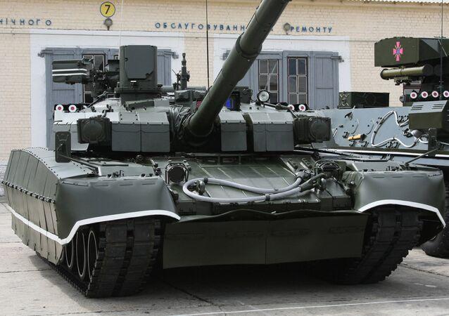 Tanque Oplot de las Fuerzas Armadas de Ucrania
