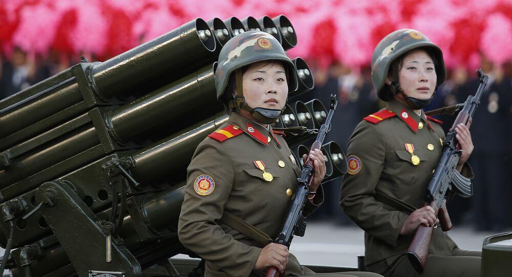 Mujeres soldados de Corea del Norte