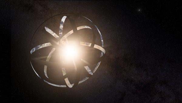 Impresión artística de la megaestructura Esfera de Dyson alrededor de una hipotética estrella - Sputnik Mundo