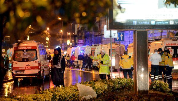 El lugar del atentado en Estambul - Sputnik Mundo