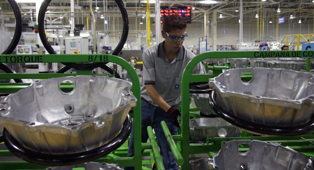 Una planta de General Motors en México
