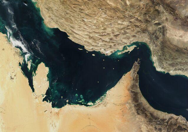Mapa del golfo Pérsico