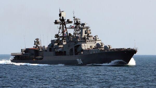 El antisubmarino ruso Almirante Tributs - Sputnik Mundo