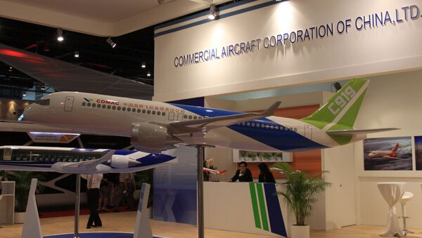 La maqueta del avion de pasajeros C919 de fabricacion china - Sputnik Mundo