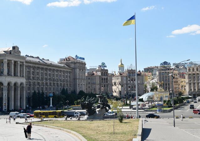 La Plaza de Independencia en Kiev