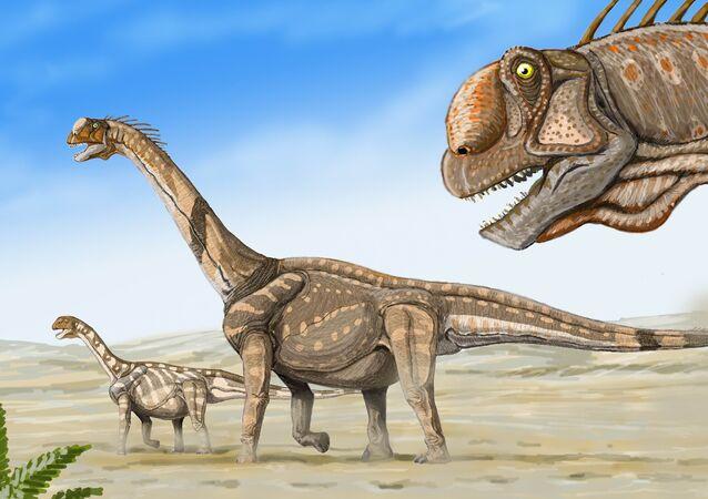Ilustración del dinosaurio Camarasaurus supremus