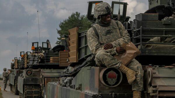 Abrams-Panzer in Deutschland - Archivbild - Sputnik Mundo