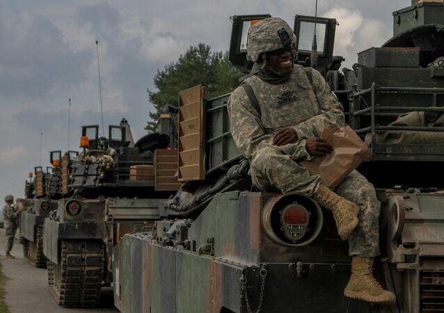 Tanques estadounidenses en Alemania (Archivo)