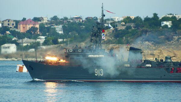 Dragaminas de la Armada Rusa (archivo) - Sputnik Mundo