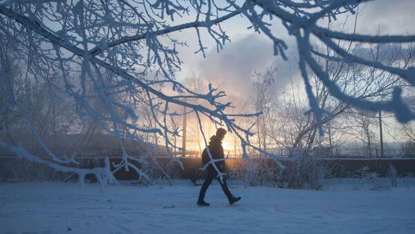 Frío extremo en Moscú - Sputnik Mundo
