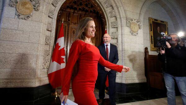 Chrystia Freeland, la ministra de Exteriores de Canadá - Sputnik Mundo