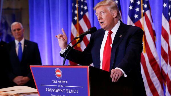 Presidente electo de EEUU, Donald Trump, durante su rueda de prensa - Sputnik Mundo