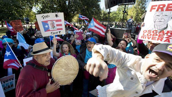 Manifestación a favor de la liberación de Oscar López Rivera - Sputnik Mundo