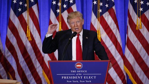La primera rueda de prensa de Donald Trump tras ganar las elecciones presidenciales de EEUU - Sputnik Mundo