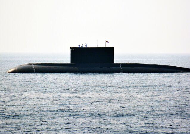Un submarino de la India