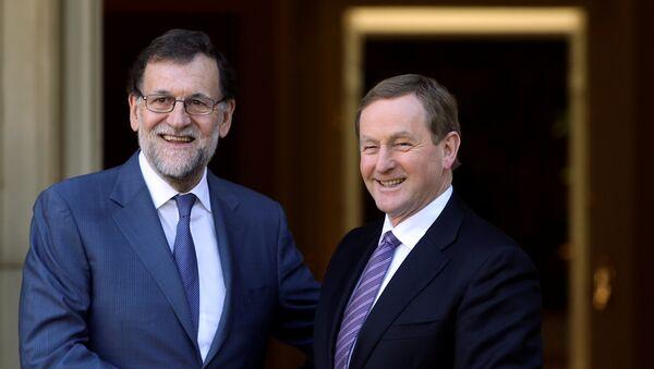 Presidente del Gobierno español, Mariano Rajoy, y primer ministro de Irlanda, Enda Kenny - Sputnik Mundo
