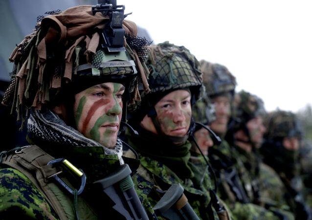 Tropas de la OTAN en Letonia, foto archivo