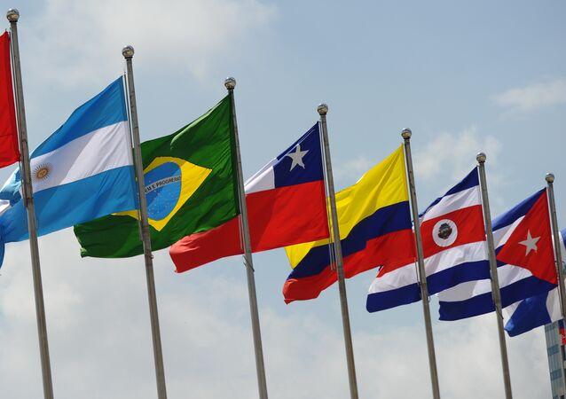 Banderas de los países de América Latina