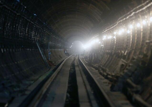 Un túnel del metro de Moscú