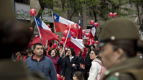 Una huelga en Chile - Sputnik Mundo