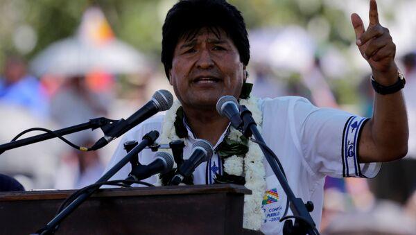 Bolivia's President Evo Morales speaks during a Democratic and Cultural revolution celebration in Ivirgarzama in the Chapare region - Sputnik Mundo