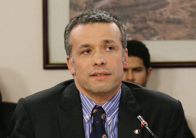 Oscar Landerretche, presidente del directorio de la estatal chilena Codelco