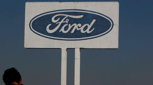The Ford logo is seen at their plant in Cuautitlan Izcalli, Mexico - Sputnik Mundo