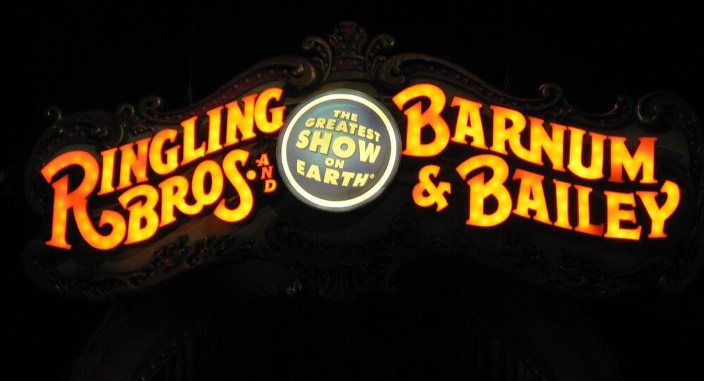 El logo de circo Ringling Brothers and Barnum & Bailey