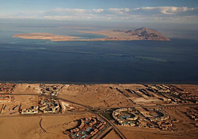 Islas de Tirán y Sanafir en el mar Rojo