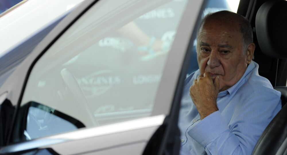 Founder and chairman of the Inditex fashion group Amancio Ortega