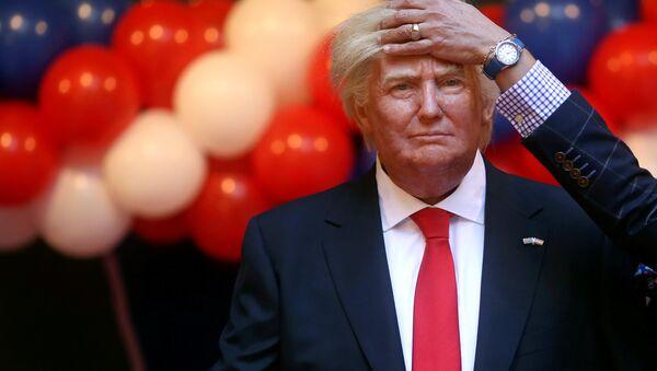 Figura de Donald Trump en el Museo de Cera de Madrid - Sputnik Mundo