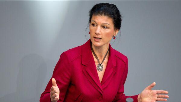Sahra Wagenknecht, líder de la facción parlamentaria alemana Die Linke - Sputnik Mundo