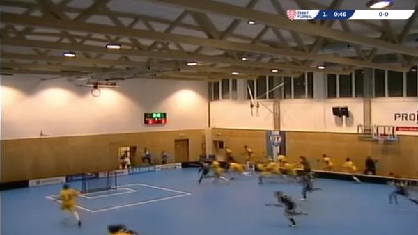 Todos a correr: el techo se viene abajo durante un partido de floorball - Sputnik Mundo
