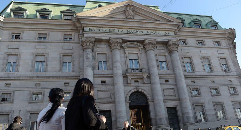 La sede del Banco de la Nación Argentina en Buenos Aires