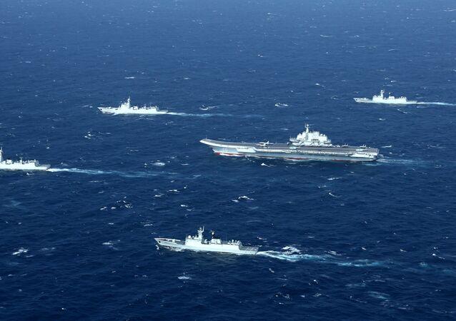 Portaviones chinos en el mar de la China Meridional