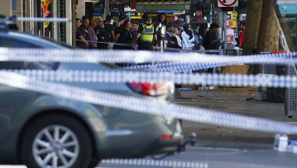 El lugar del accidente en Melbourne - Sputnik Mundo