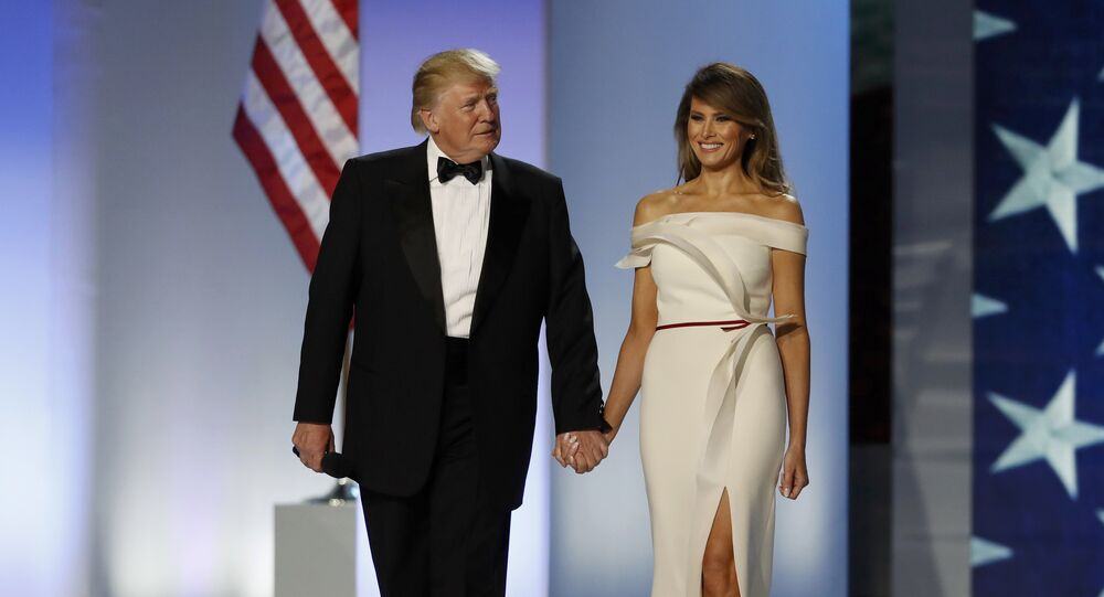 El presidente de EEUU, Donald Trump, y su esposa Melania (archivo)