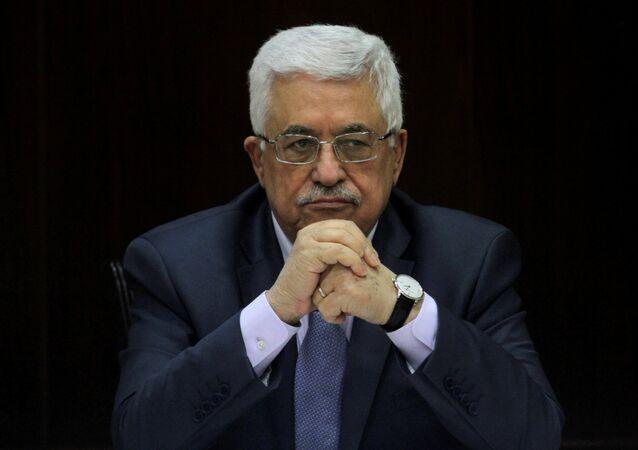 Mahmud Abás, líder palestino